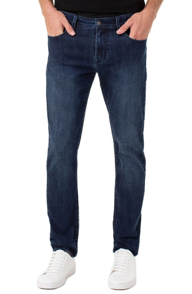 LIVERPOOL Kingston Slim Straight Leg Jeans, Main, color, ALAMEDA DARK