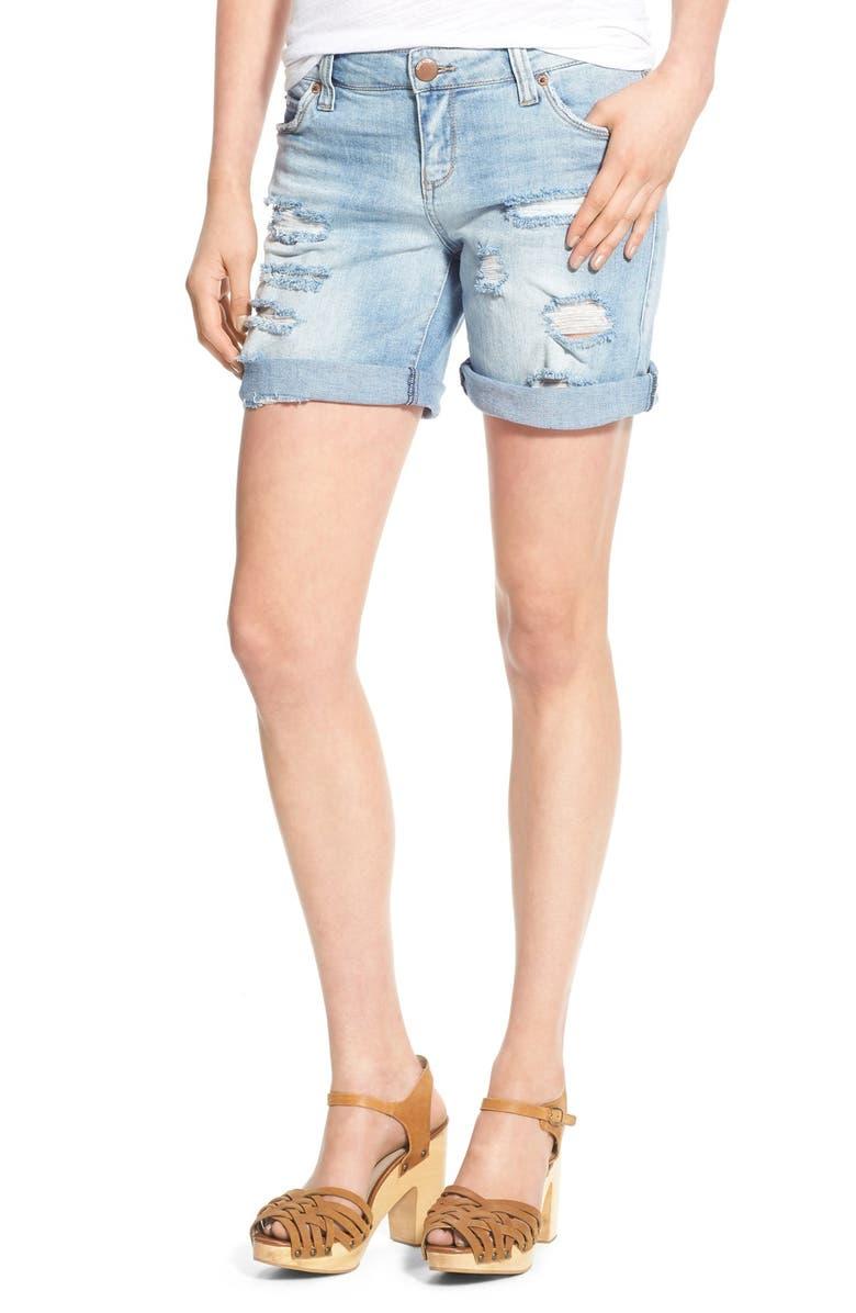 STS BLUE Denim Boyfriend Shorts, Main, color, 403