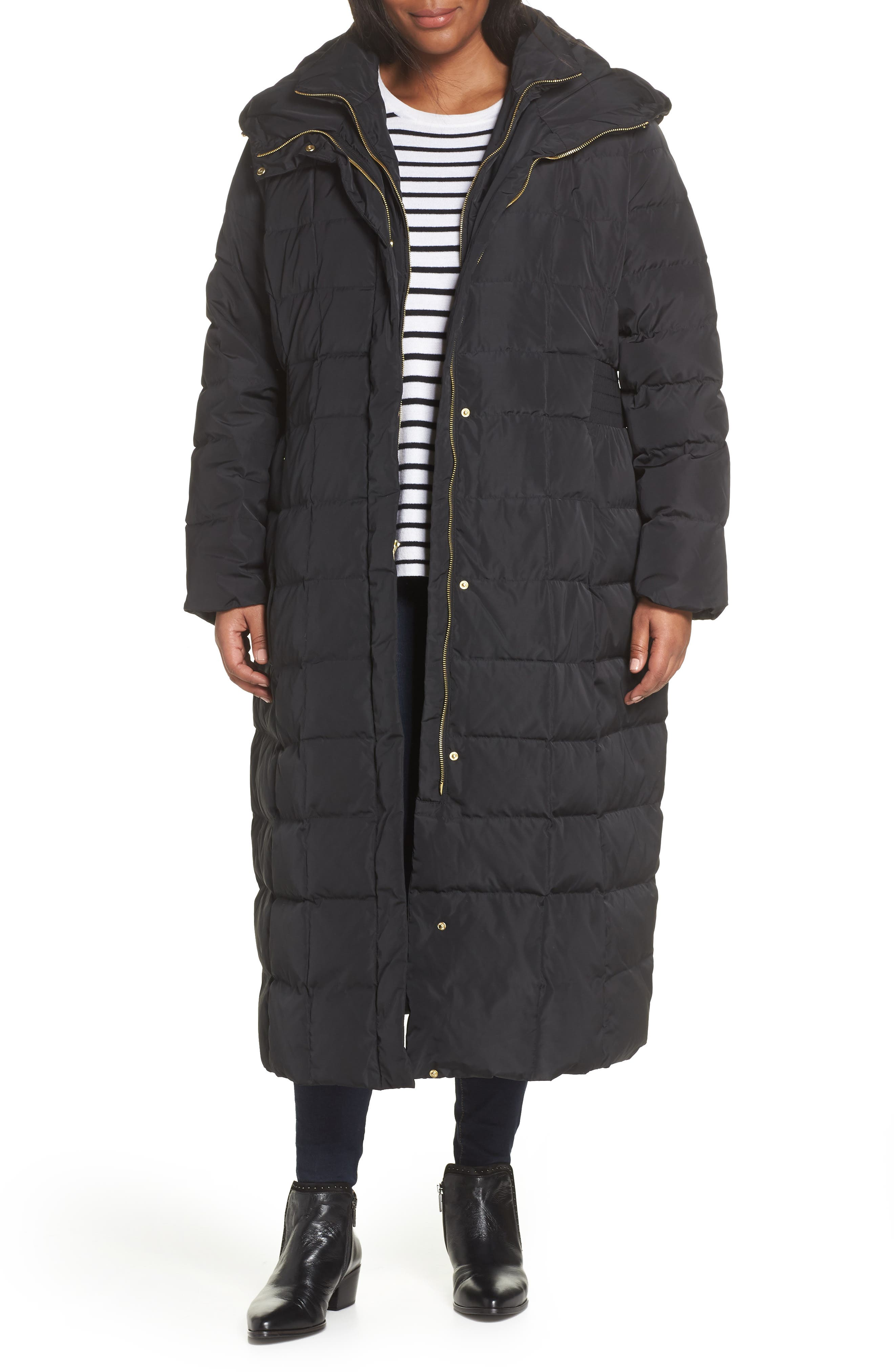 Quilted Coat with Inner Bib, Main, color, 001