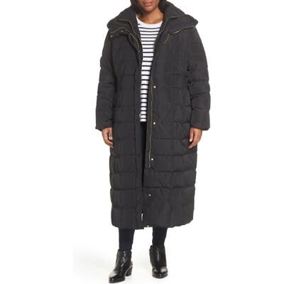 Plus Size Cole Haan Signature Quilted Coat With Inner Bib, Black