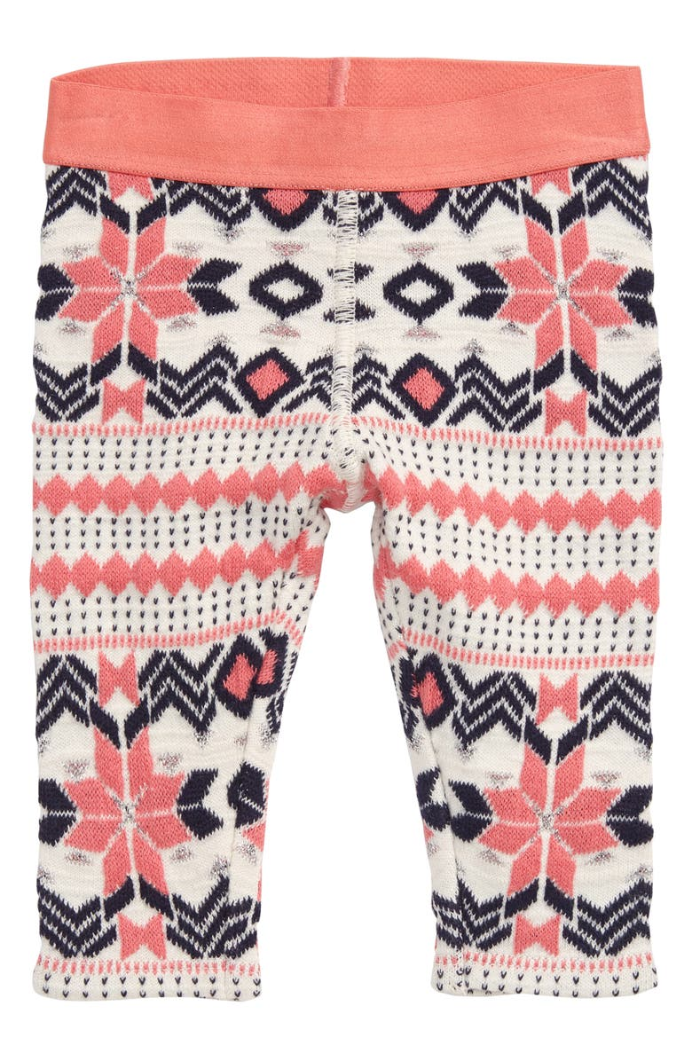 TUCKER + TATE Fair Isle Knit Leggings, Main, color, IVORY EGRET WINTER FAIRISLE