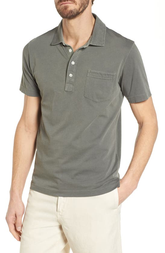 Billy Reid Men's Pensacola Slim-fit Polo Shirt In Washed Grey