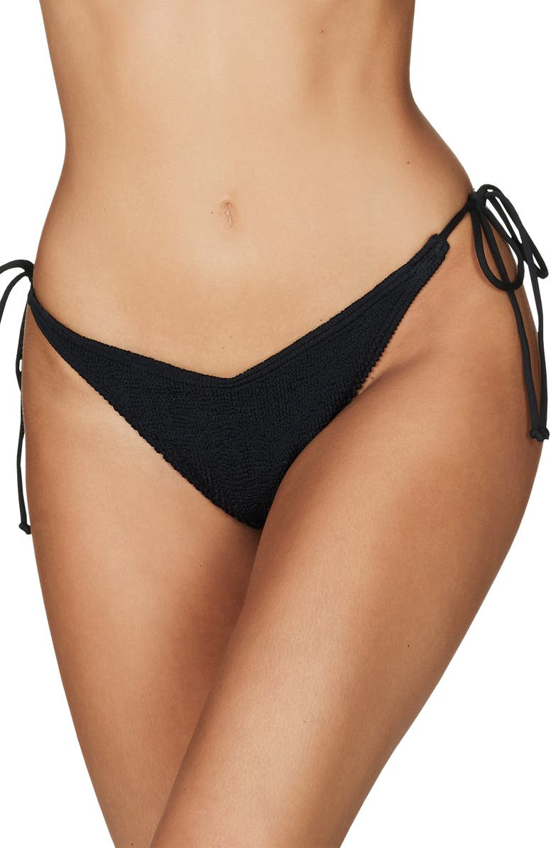 BOUND BY BOND-EYE The Serenity Side Tie Bikini Bottoms, Main, color, BLACK
