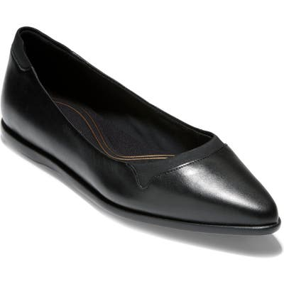 Cole Haan Grand Ambition Pointy Toe Flat, Black