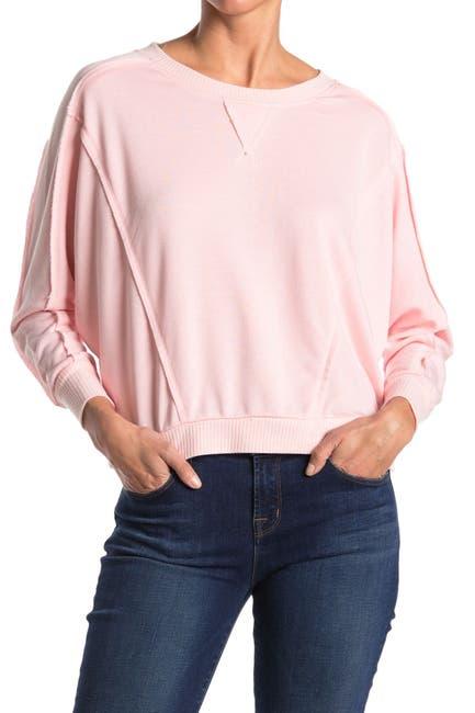 Image of Sweet Romeo Exposed Seam Dolman Crop Sweatshirt