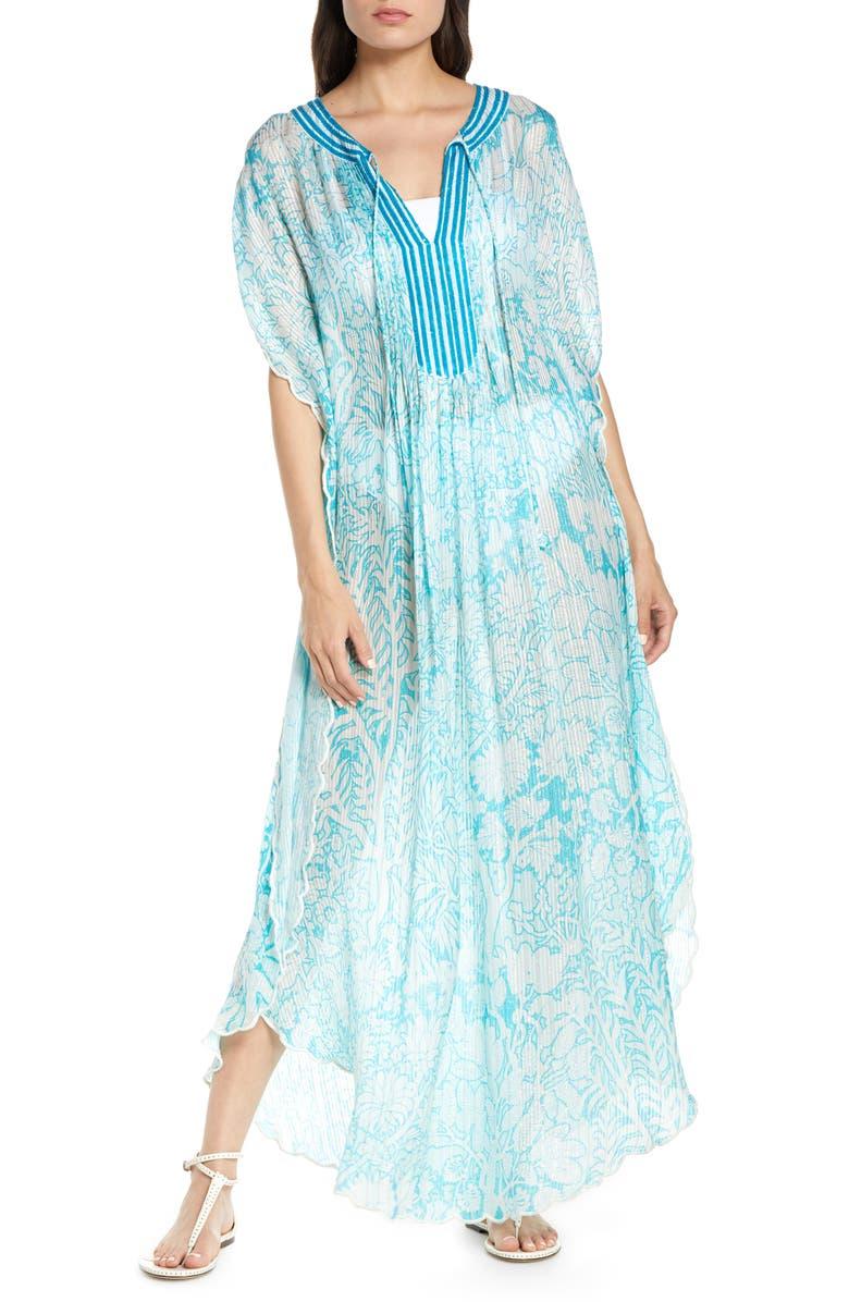 HEMANT & NANDITA Cover-Up Maxi Dress, Main, color, BLUE