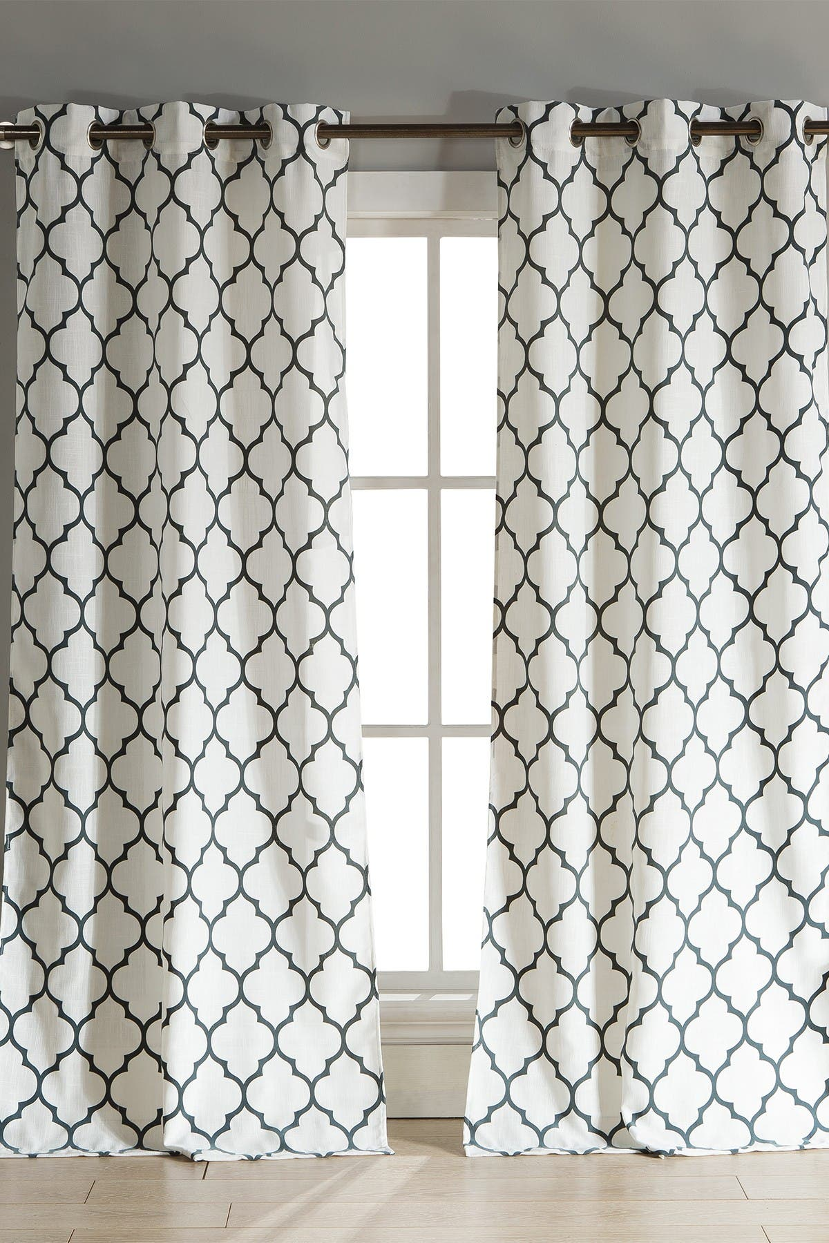 Image of Duck River Textile Mason Grommet Pair Curtain - Set of 2 - Stone/Blue