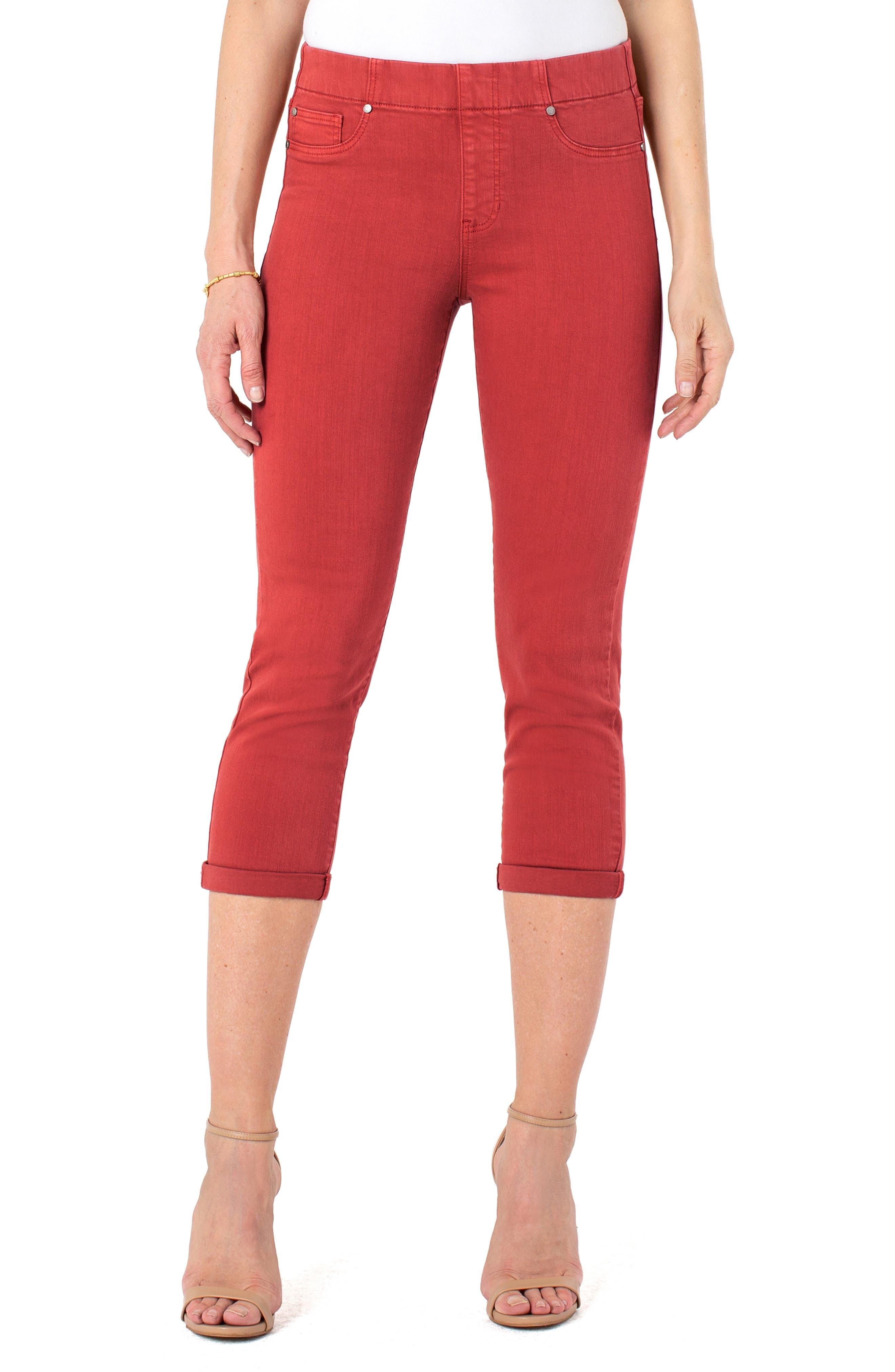 Los Angeles Chloe High Waist Crop Pull-On Skinny Jeans