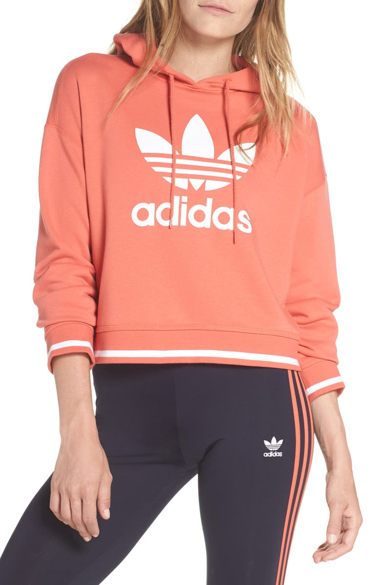 ADIDAS Active Icons Cropped Hoodie, Main, color, 632