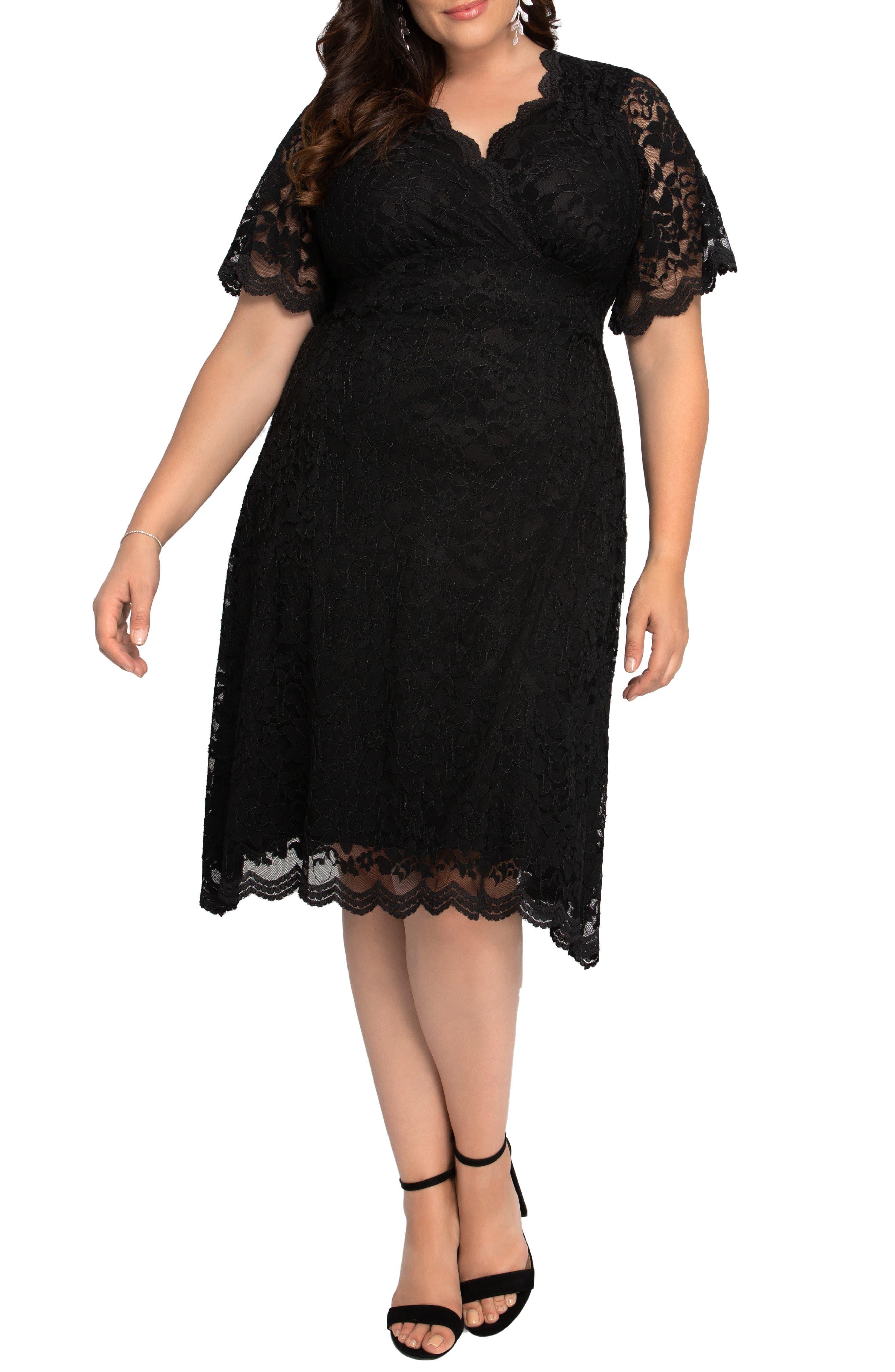 Retro Glam Lace Cocktail Dress