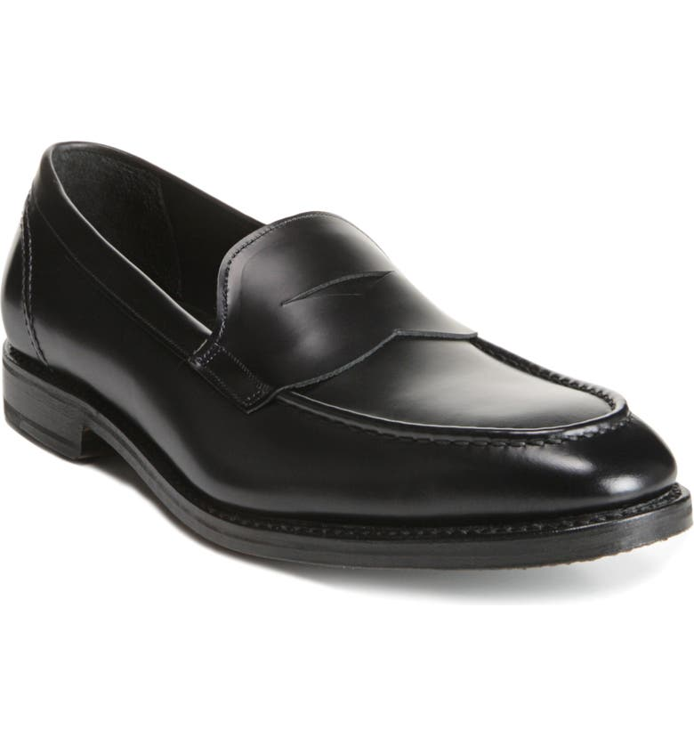 ALLEN EDMONDS Mercer Penny Loafer, Main, color, BLACK LEATHER
