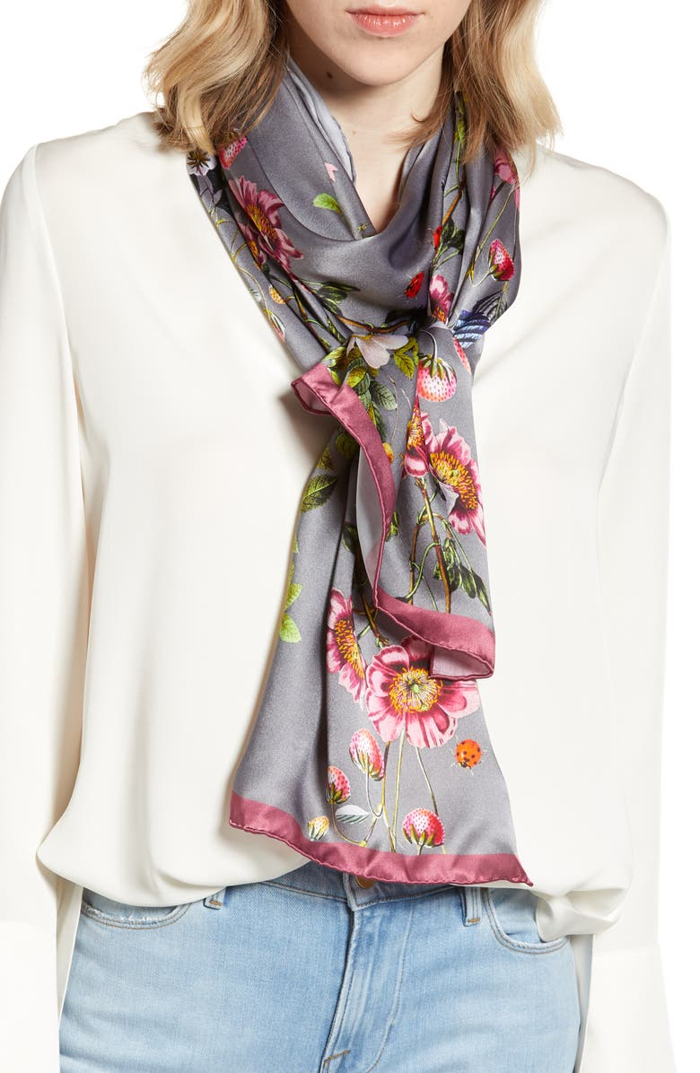 Oracle Floral Silk Scarf by Ted Baker London