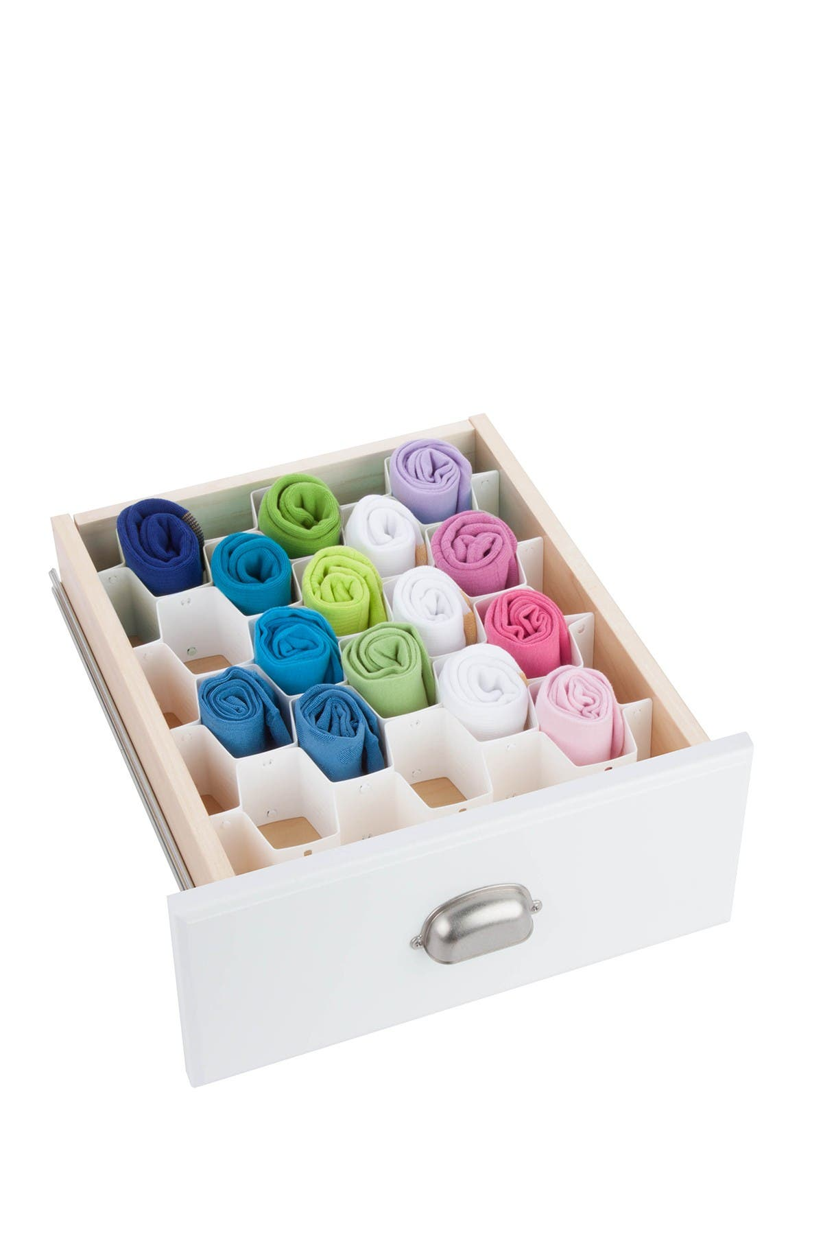 Image of Honey-Can-Do White 32 Compartment Drawer Organizer