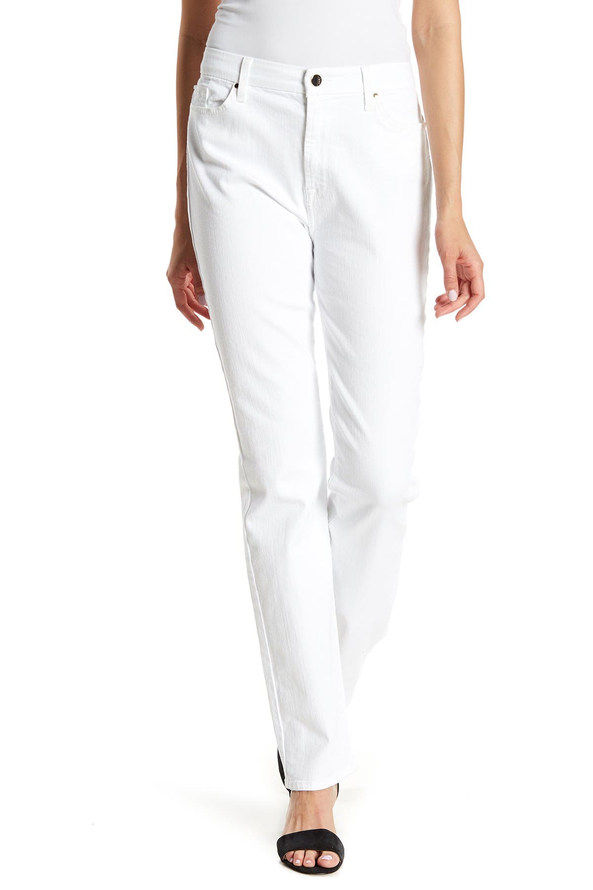 Image of Jen7 by 7 For All Mankind Slim Straight Jeans
