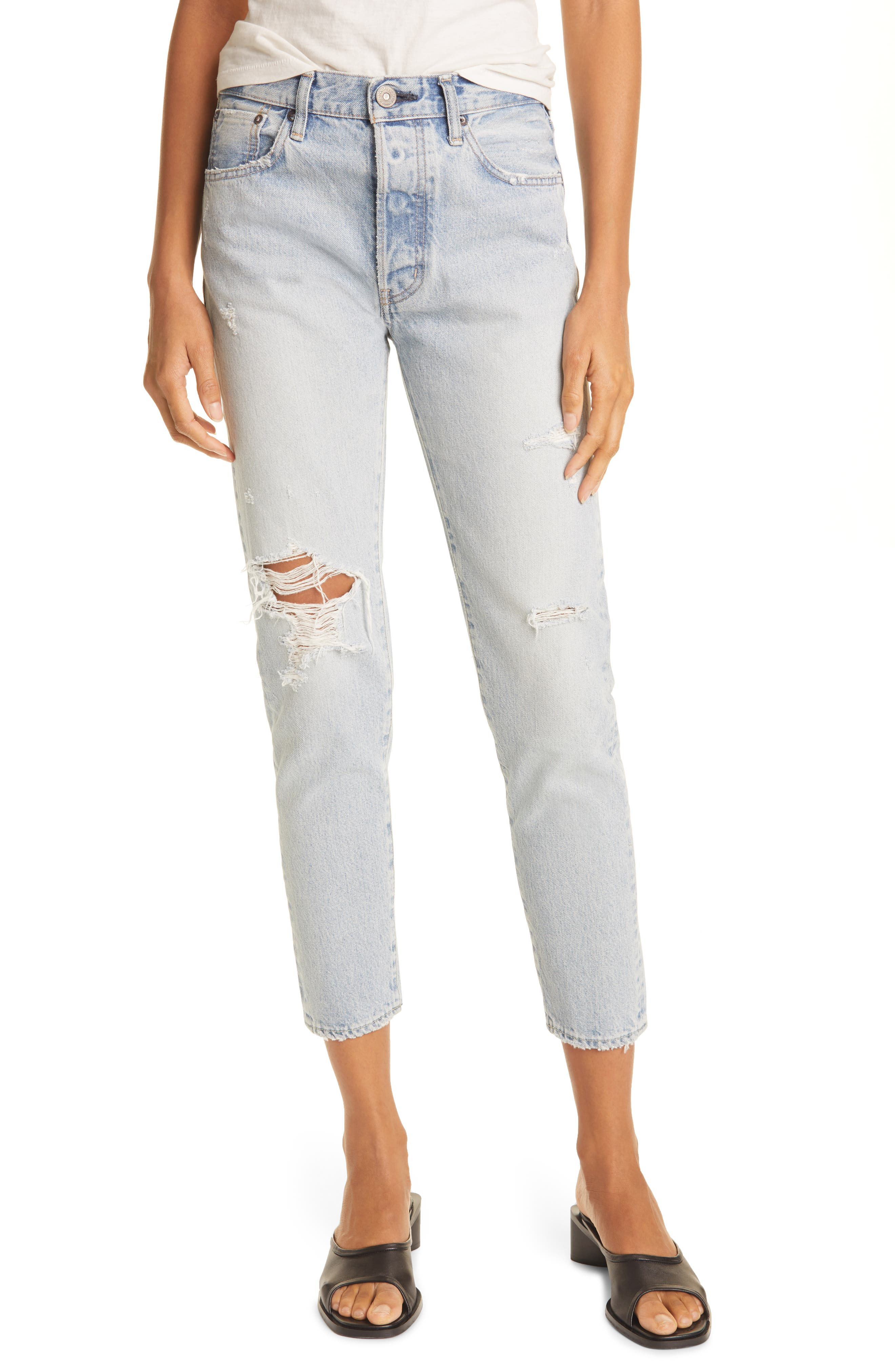 Melvin High Waist Tapered Skinny Jeans