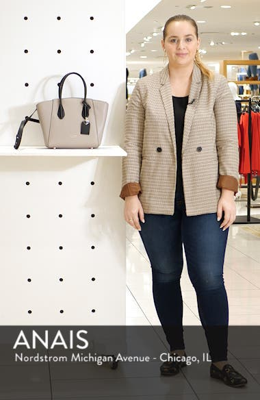 medium grace leather satchel, sales video thumbnail