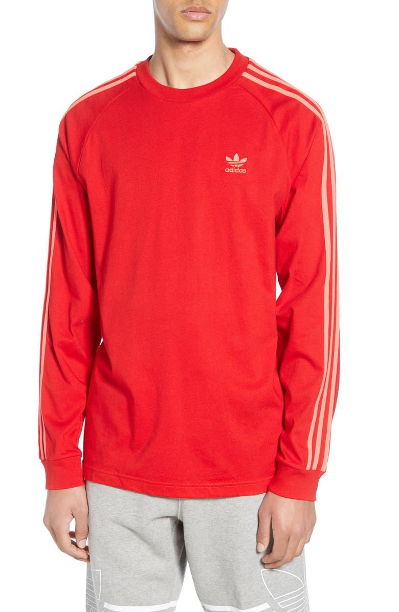 ADIDAS ORIGINALS 3-Stripes Long Sleeve T-Shirt, Main, color, 610