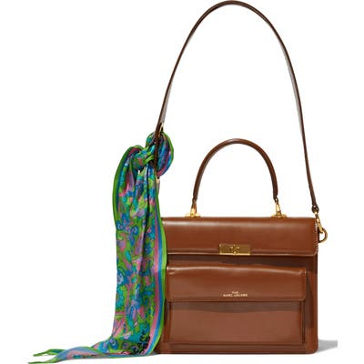 Marc Jacobs The Uptown Leather Shoulder Bag - Brown