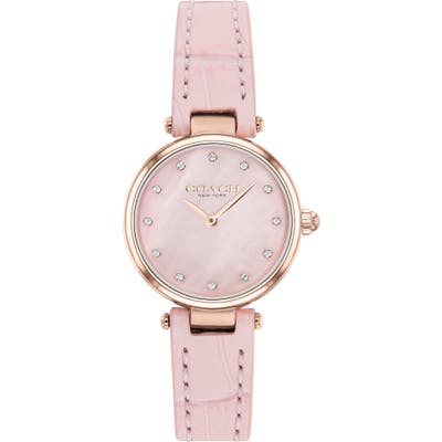 Coach Park Leather Strap Watch, 2m