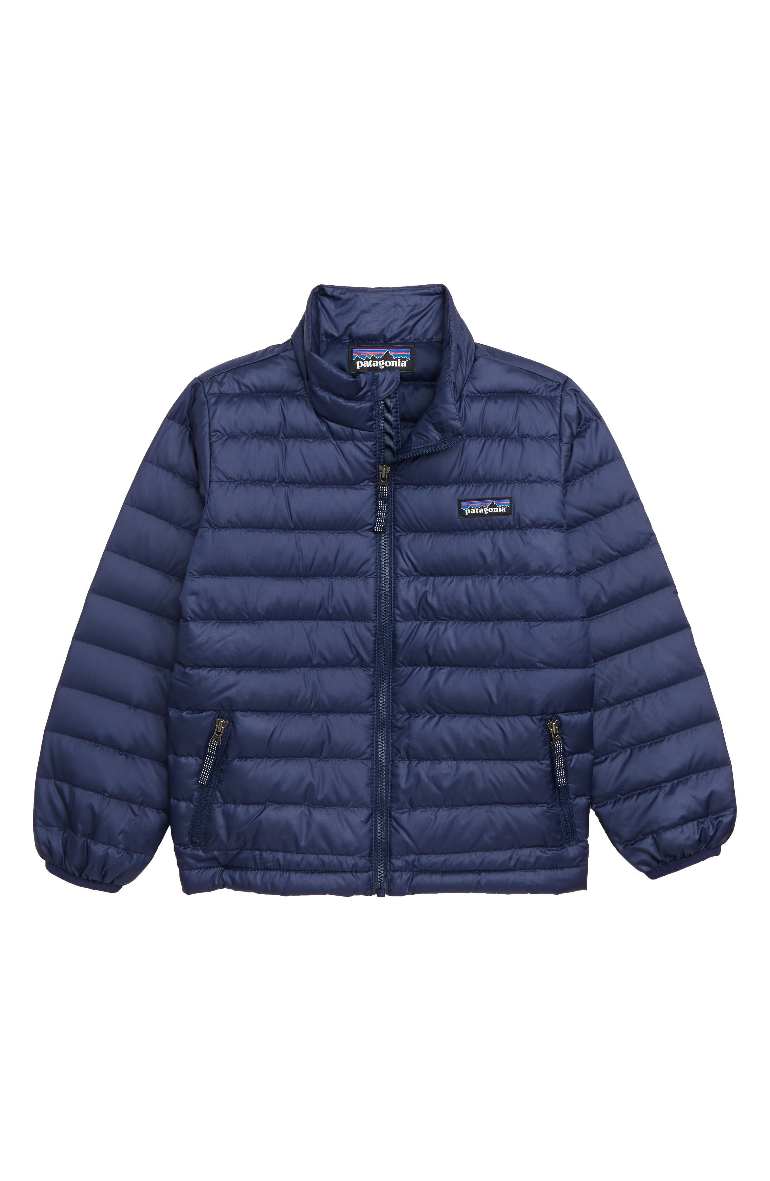 Toddler Boys Patagonia Water Repellent 600Fill Power Down Sweater Jacket Size 4T  Blue