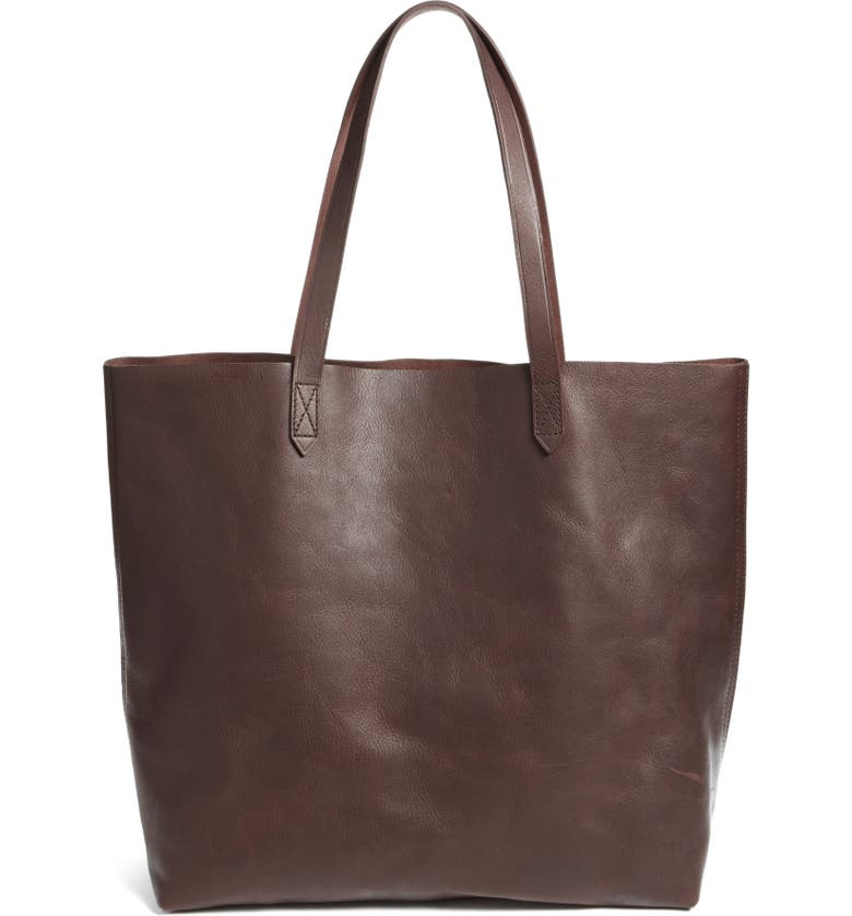 MADEWELL 'Transport' Leather Tote, Main, color, DARK CABERNET