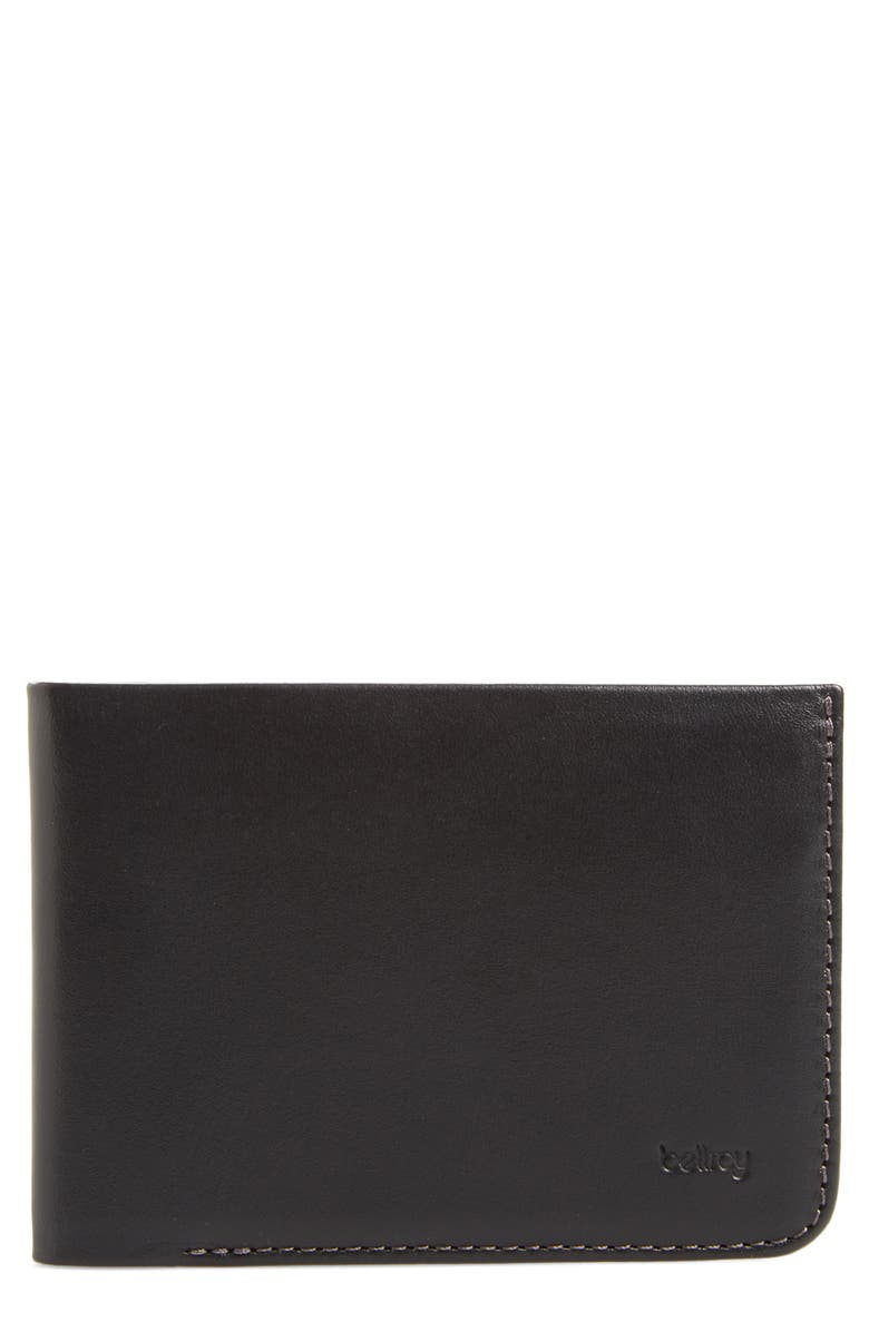 BELLROY Low Down Leather Wallet, Main, color, 001