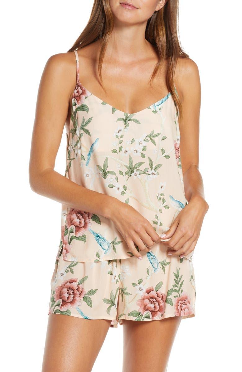 HOMEBODII Natice Short Pajamas, Main, color, PINK PRINT