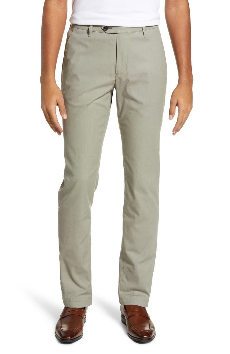 TED BAKER LONDON Penguin Slim Fit Classic Dress Pants, Main, color, KHAKI