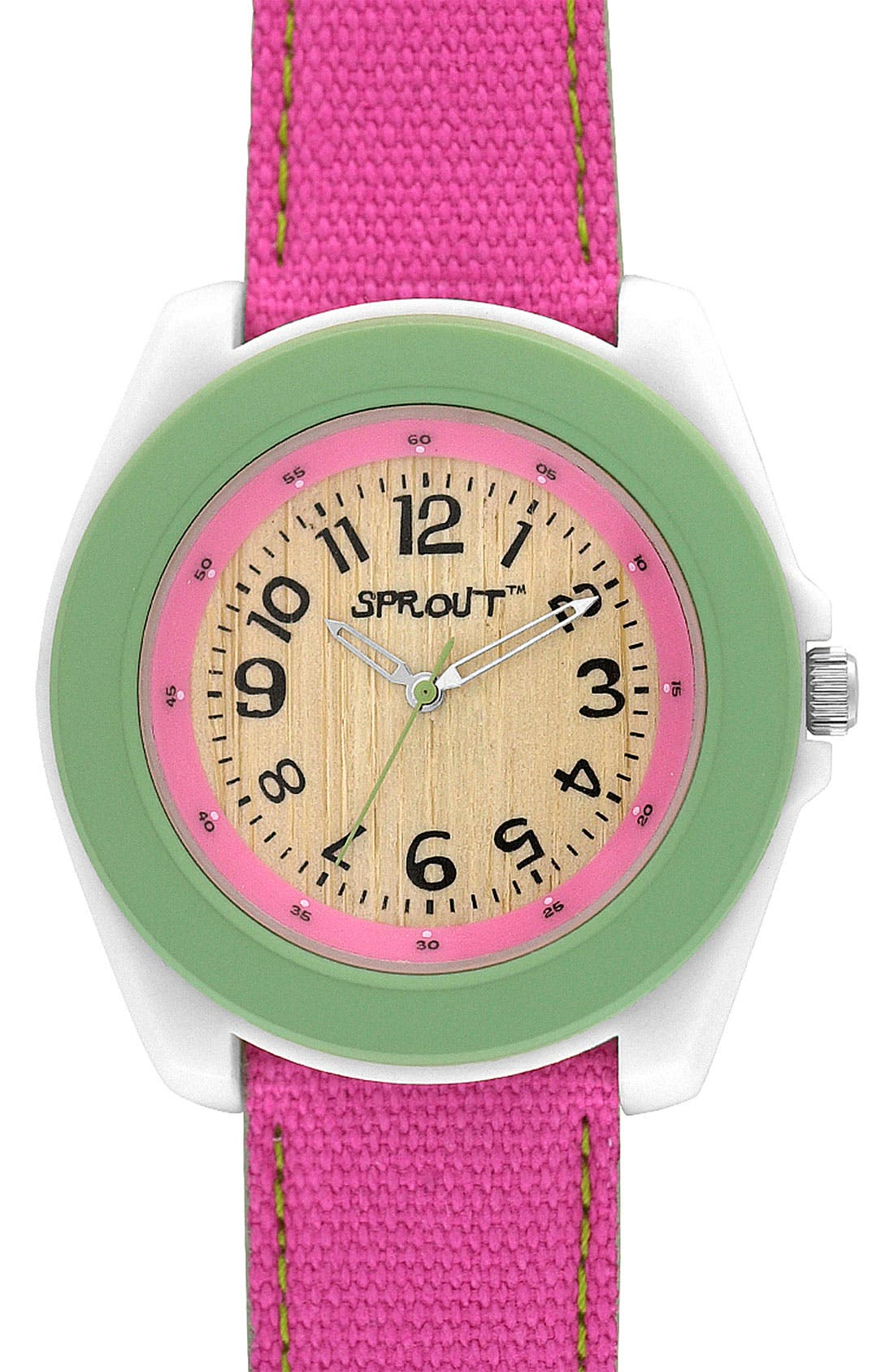,                             Organic Round Case Watch,                             Main thumbnail 5, color,                             650