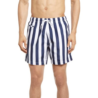 Trunks Surf & Swim Co. Stripe Swim Trunks, Blue