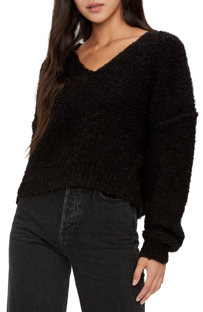 MICHAEL STARS Stacey V-Neck Sweater, Main, color, 001