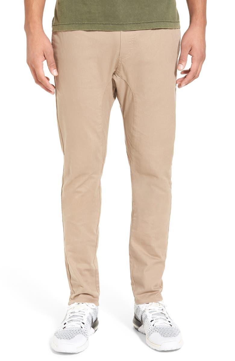 ZANEROBE Salerno Slim Fit Chino Jogger Pants, Main, color, TAN