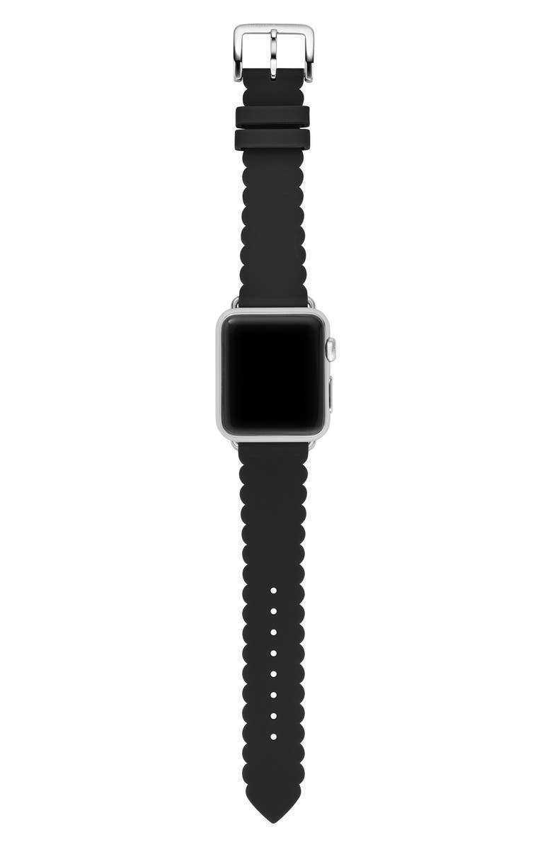 KATE SPADE NEW YORK Apple Watch strap, 38mm, Main, color, BLACK