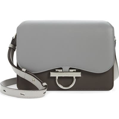 Salvatore Ferragamo Joanne Classic Calfskin Leather Crossbody Bag - Grey