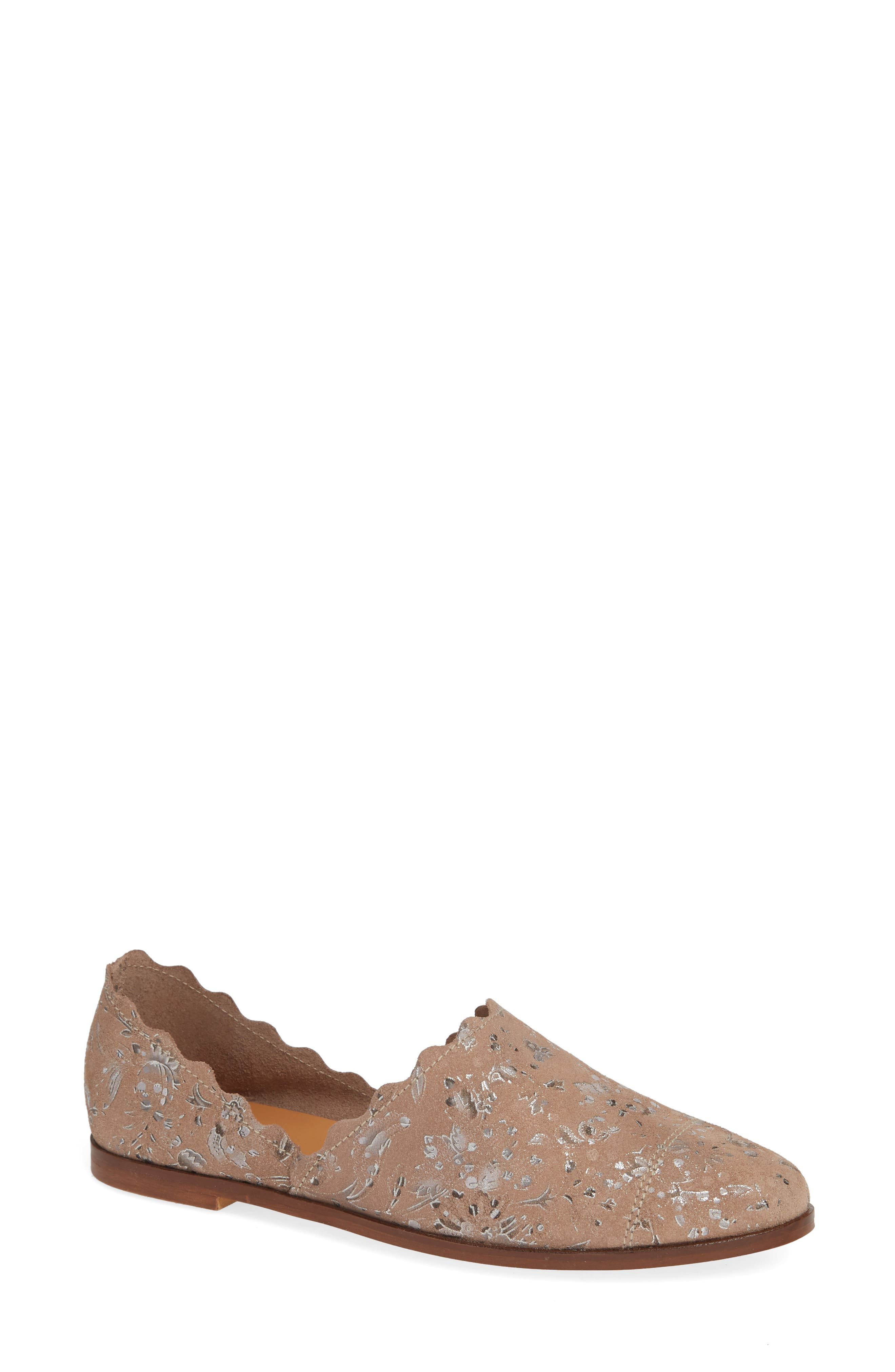 A breezy d\\\'Orsay flat with scalloped-opening trim is made from lightly weathered suede and detailed with a stitched cap toe. Style Name: Klub Nico Georgette D\\\'Orsay Flat (Women). Style Number: 5476389. Available in stores.