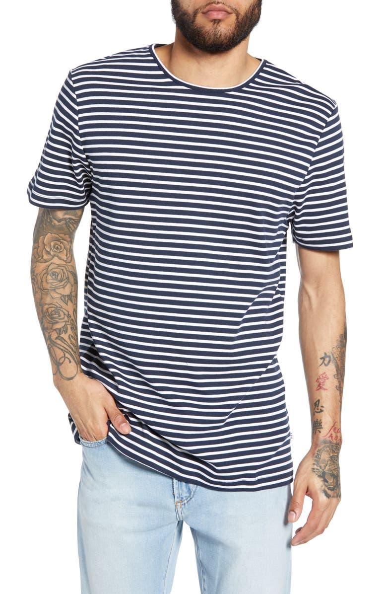 WAX LONDON Duval Stripe T-Shirt, Main, color, 410