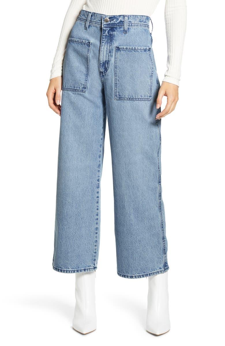 NOBODY DENIM Costa High Waist Crop Wide Leg Jeans, Main, color, COSTA