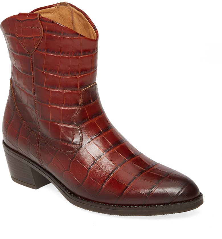 GABOR Western Boot, Main, color, BROWN LEATHER