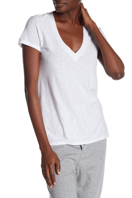 Image of James Perse Solid V-Neck Slub T-Shirt