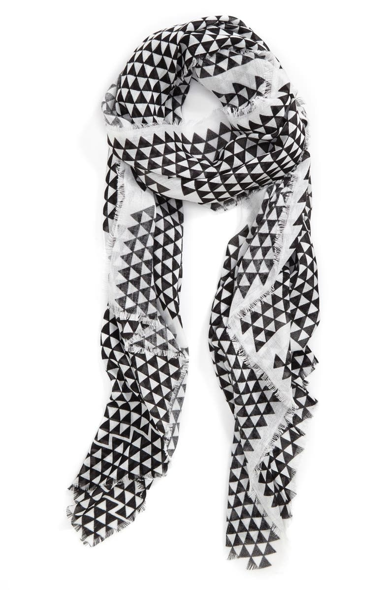 VINCE CAMUTO 'Lightbox Piece Good' Scarf, Main, color, 001