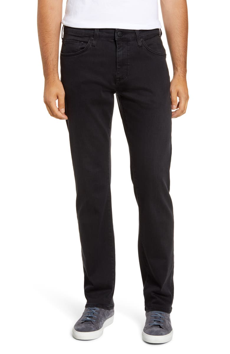 MAVI JEANS Zach Straight Leg Jeans, Main, color, CHARCOAL SUPERMOVE