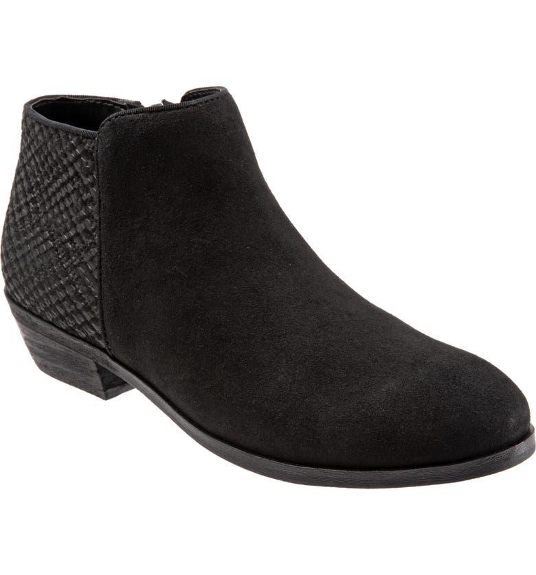 SOFTWALK<SUP>®</SUP> 'Rocklin' Bootie, Main, color, BLACK LEATHER