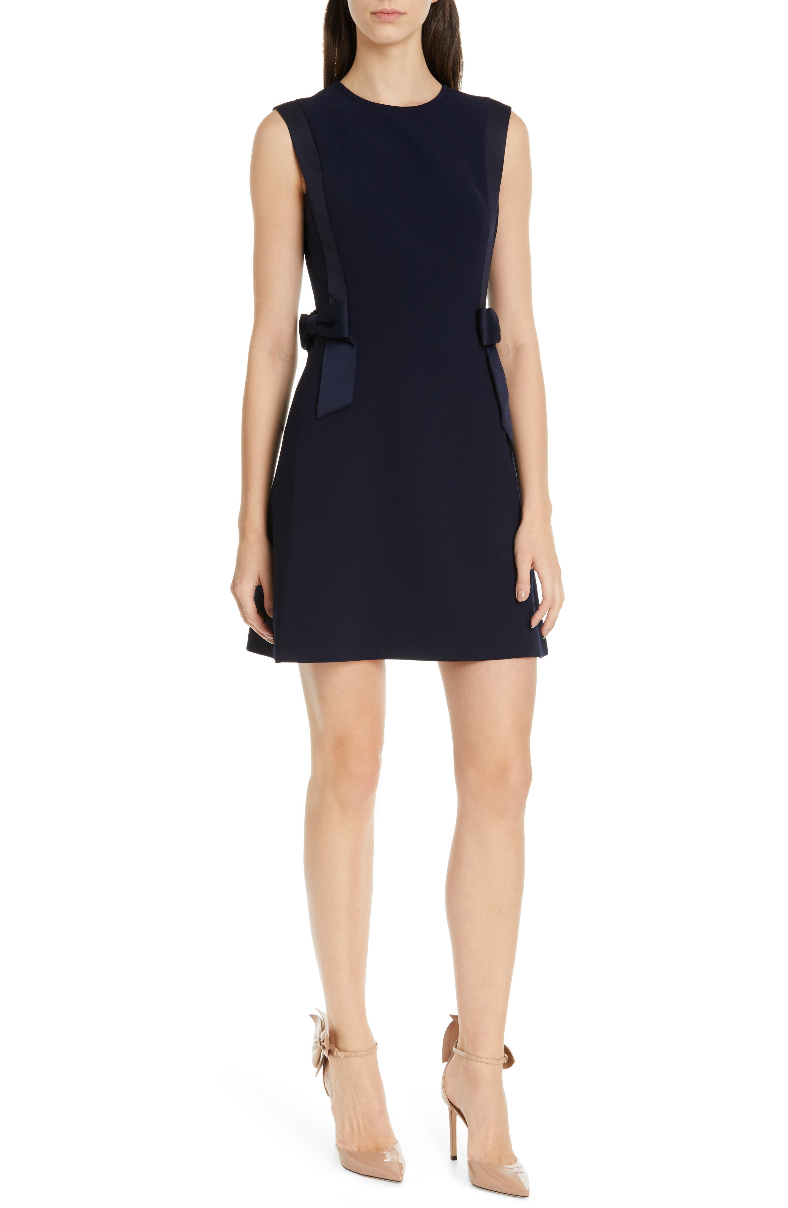Ted Baker London Meline Side Bow Detail Dress, Blue