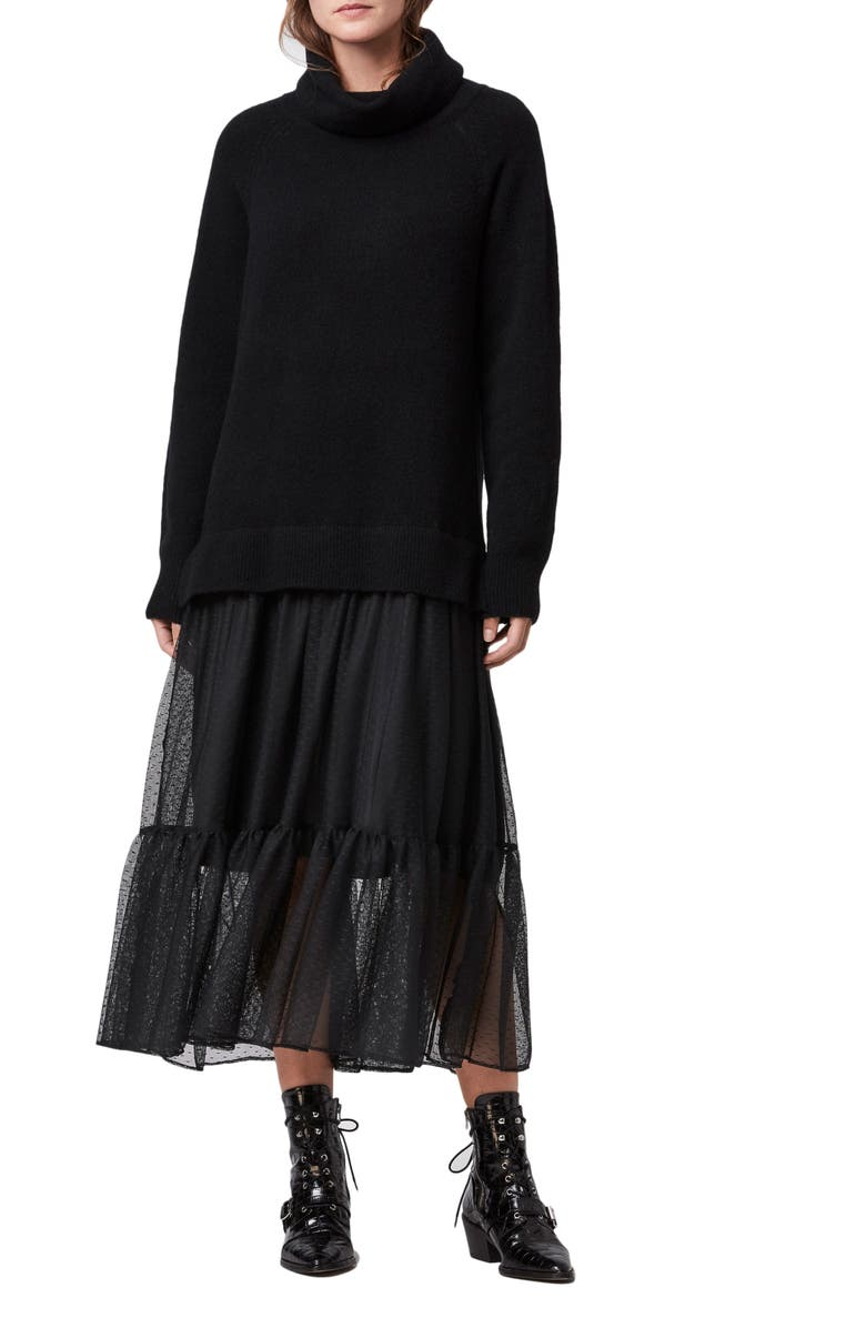 Tula Sweater Tulle Dress by Allsaints