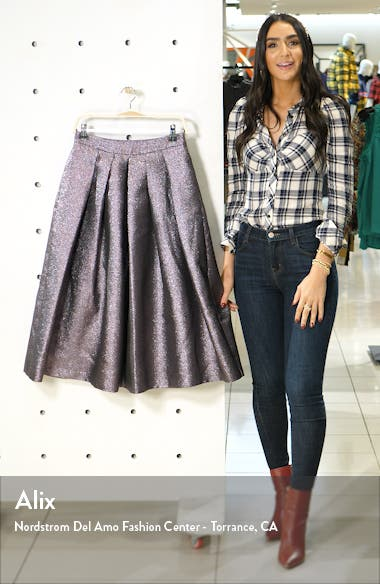 x Atlantic-Pacific Pleated Metallic Skirt, sales video thumbnail