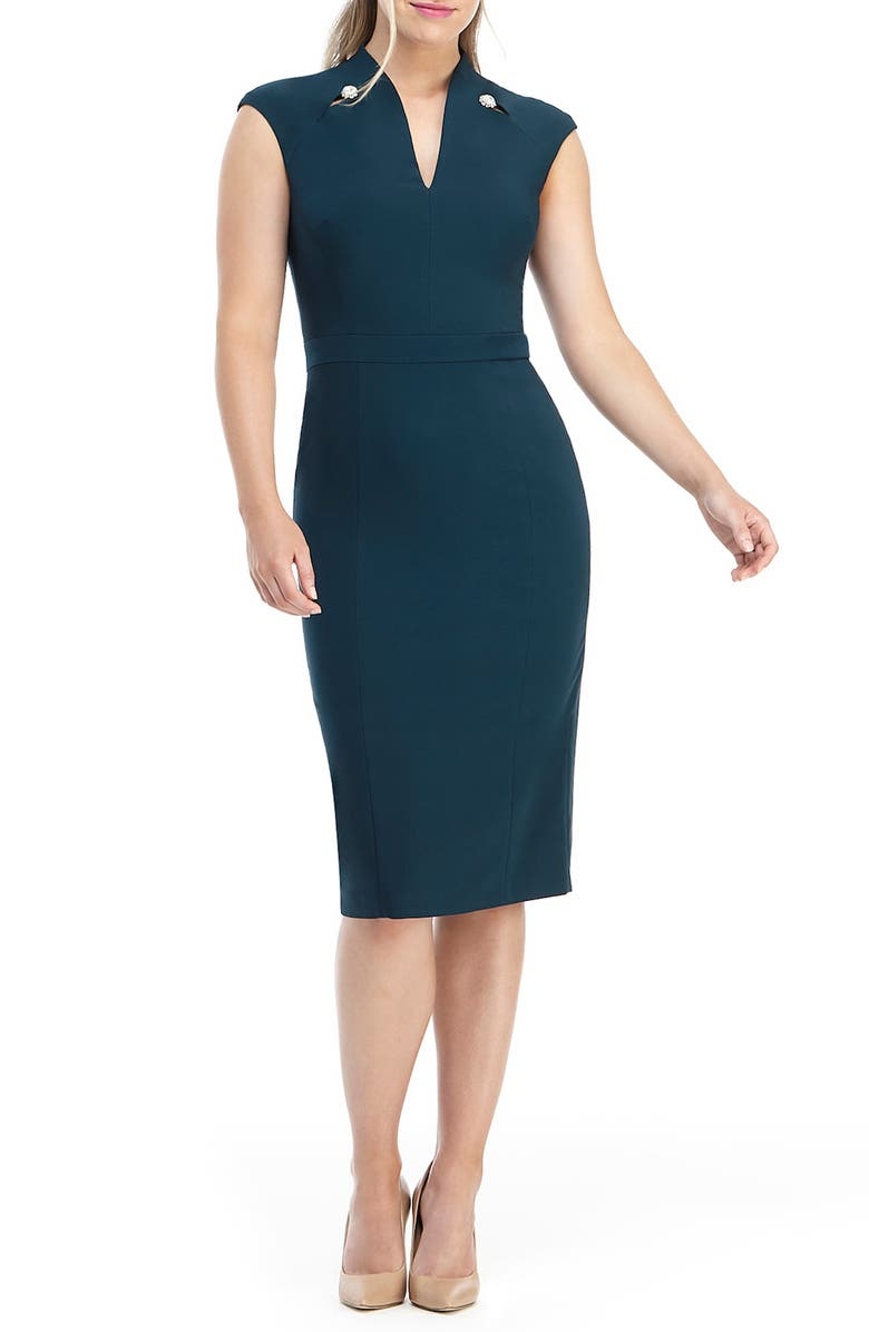 MAGGY LONDON Embellished Sheath Dress, Main, color, 301