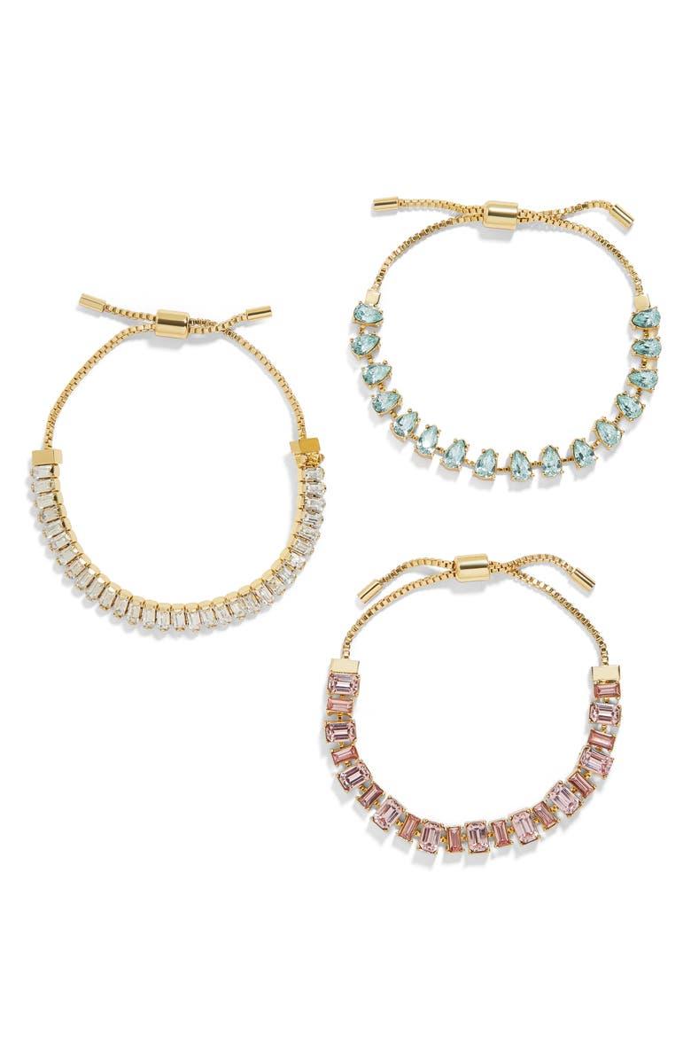 BAUBLEBAR Dominique Set of 3 Bracelets, Main, color, PINK/ BLUE MULTI