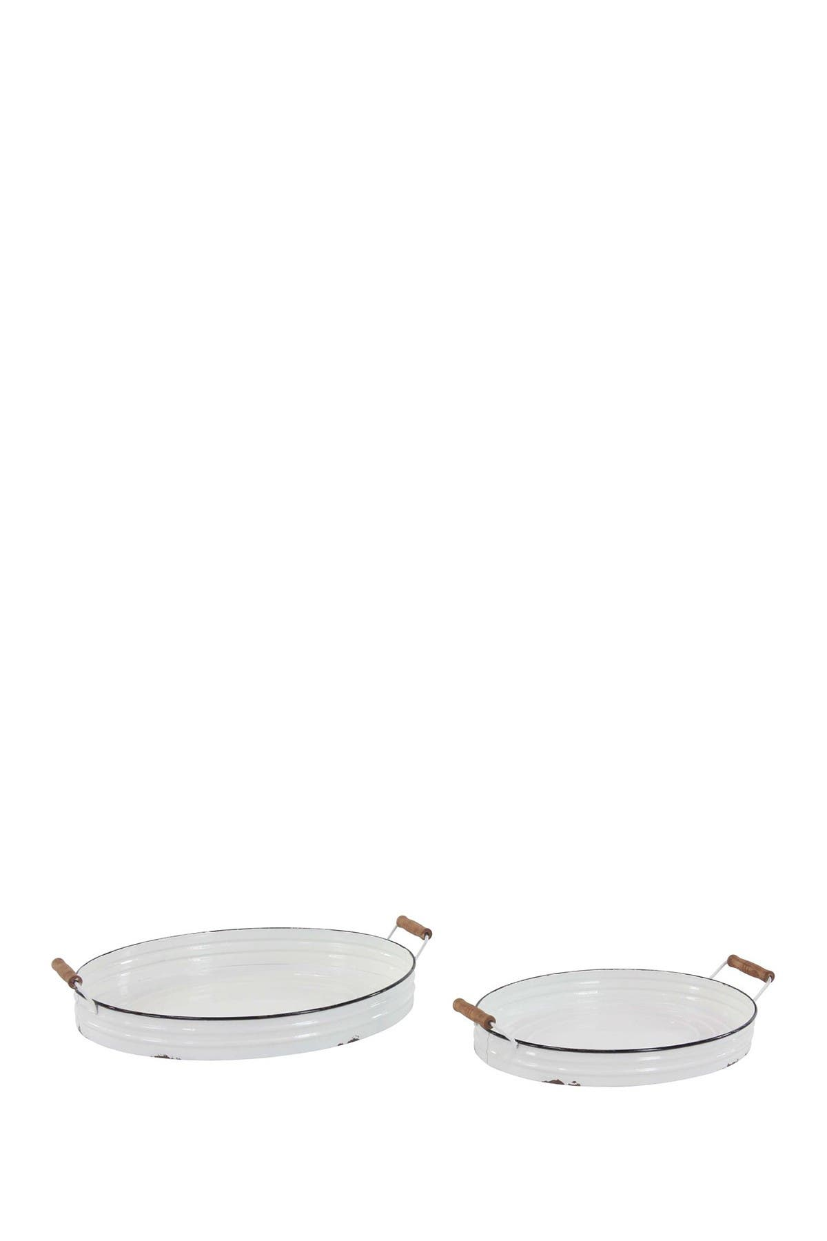 Image of Willow Row Metal Round Tray 2-Piece Set