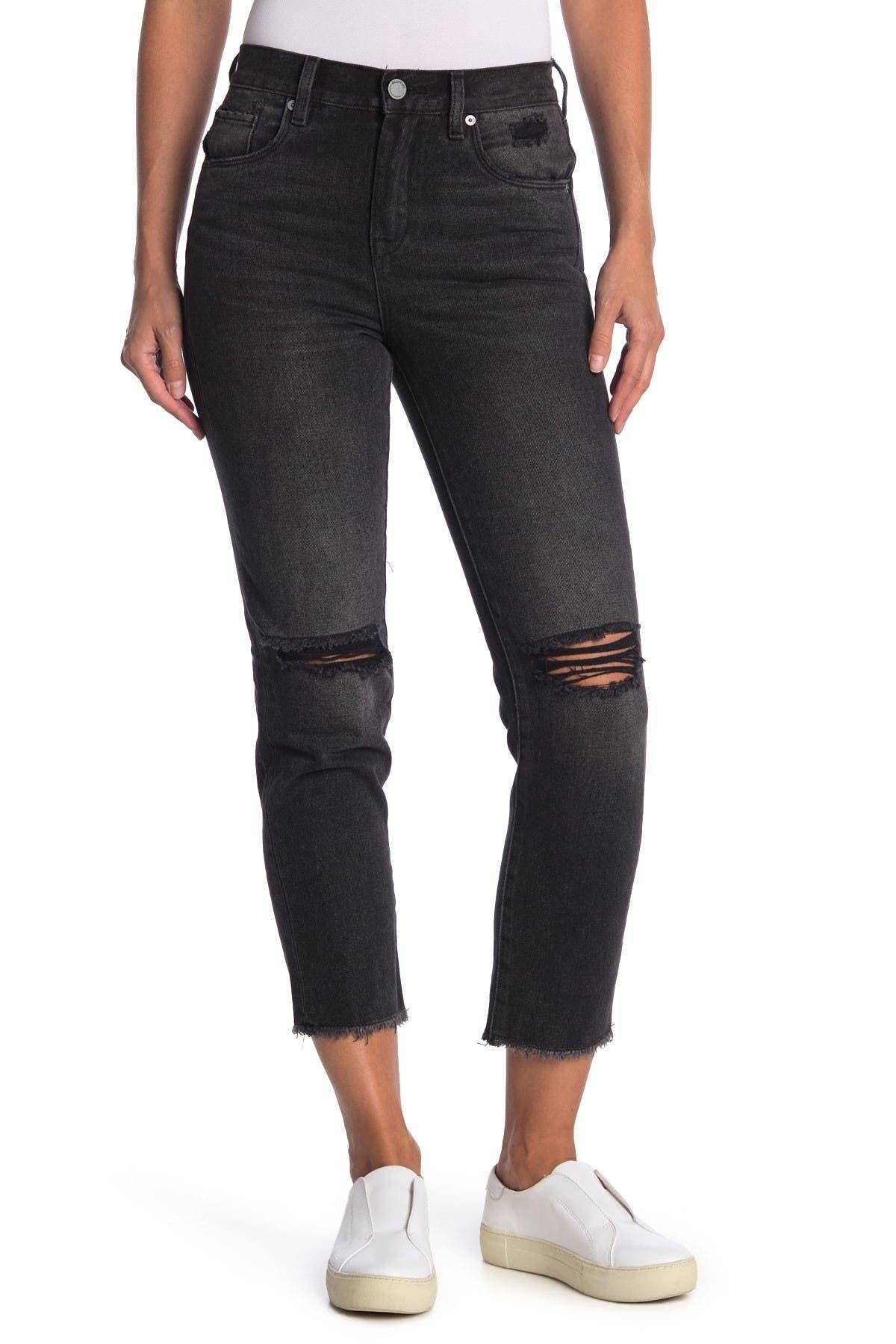 Image of BLANKNYC Denim Madison Distressed Fray Crop Skinny Jeans