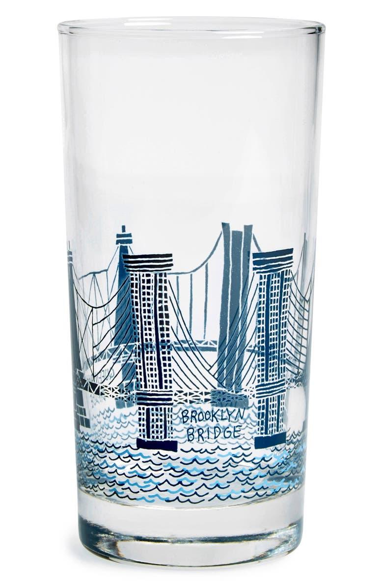 FISHS EDDY 'Bridge and Tunnel' Glass, Main, color, 400